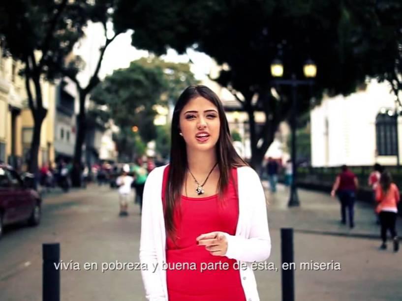 Daniella Cabello, filha do deputado venezuelano Diosdado Cabello, em programa do PSUV, o partido do chavismo
