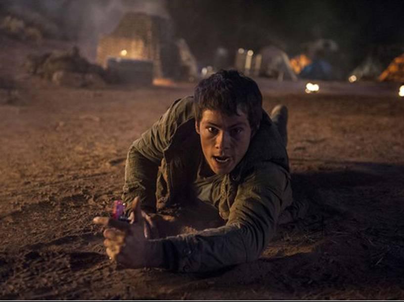 Thomas (Dylan OBrien) no filme Maze Runner: Prova de Fogo