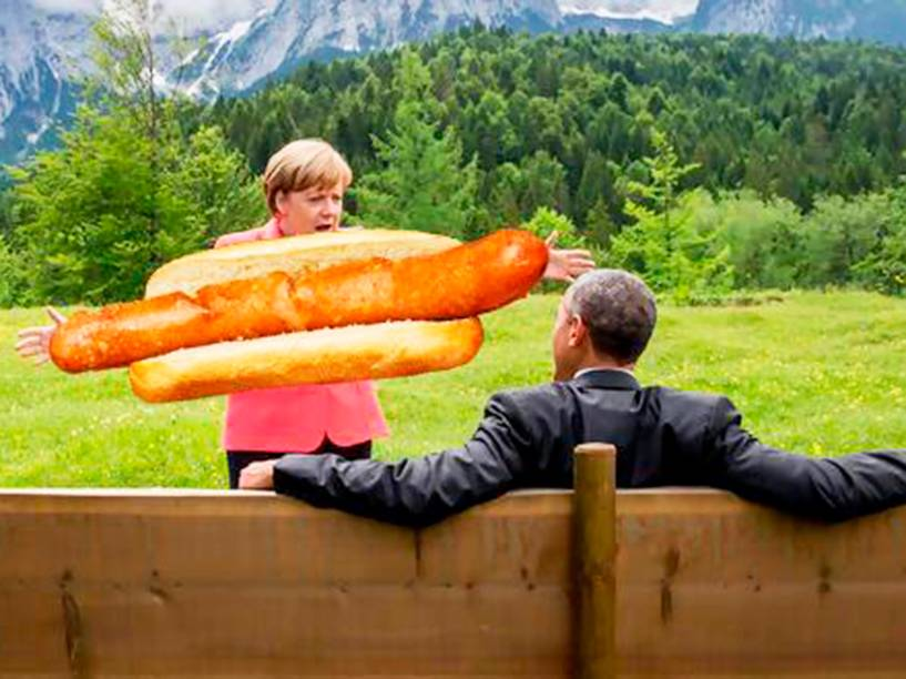 Memes de Merkel e Obama