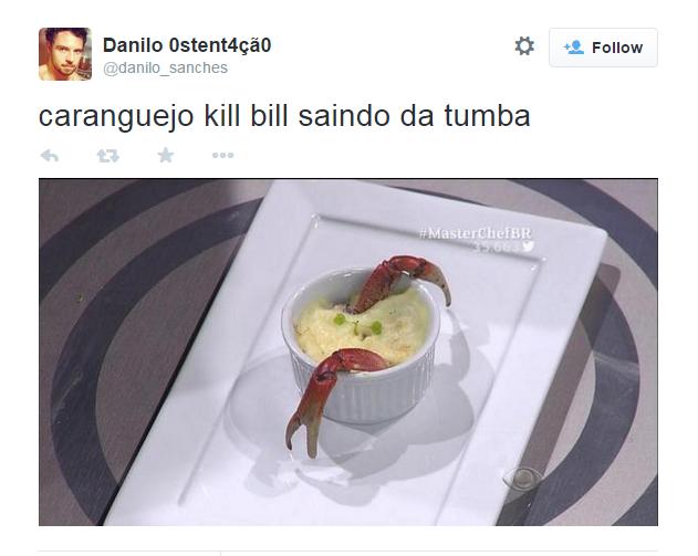 Escondidinho de caranguejo é comparado à cena em que a atriz Uma Thurman escapa de uma cova no filme Kill Bill: Volume 2 (2004)