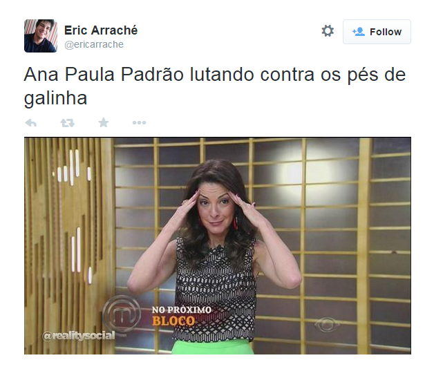 Ana Paula Padrão agora se desespera no MasterChef