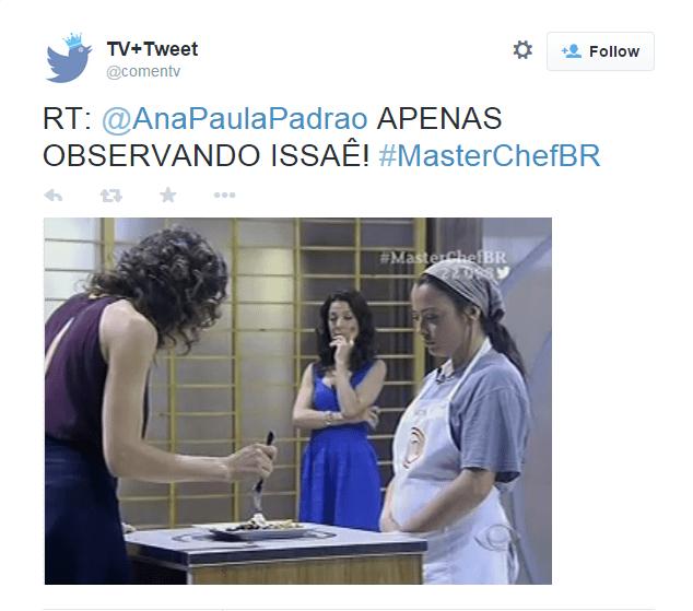 Caras e bocas de Ana Paula Padrão no Masterchef serviram de inspiração para alguns memes