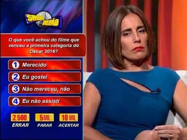 Memes fizeram piada com a participação de Gloria Pires na cobertura do Oscar da TV Globo