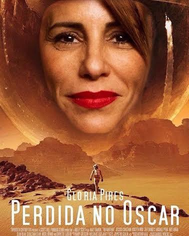 Meme brinca com cartaz do filme Perdido em Marte e substitui Matt Damon por Gloria Pires, no título Perdida no Oscar