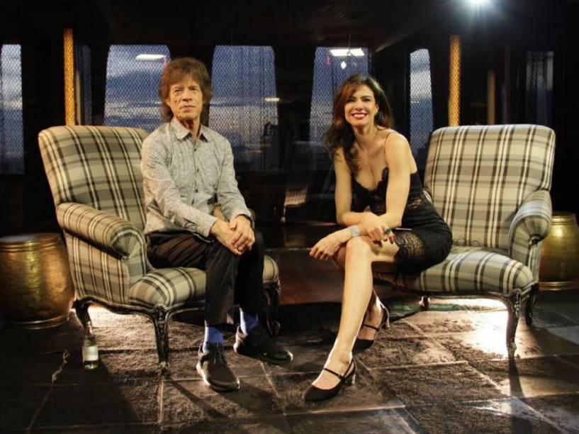 Mick Jagger em entrevista a Luciana Gimenez