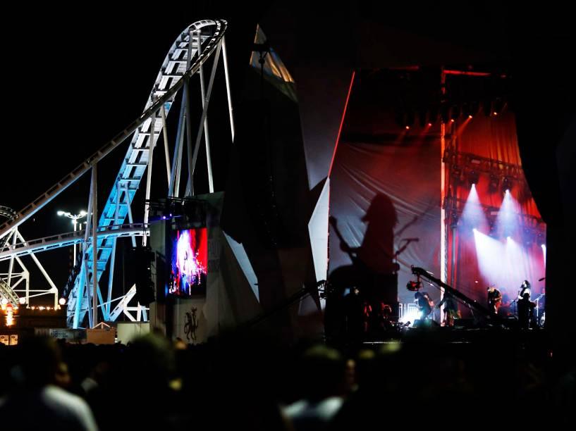 Apresentação da banda Ministry + Burton C.Bell no segundo dia do Rock in Rio 2015