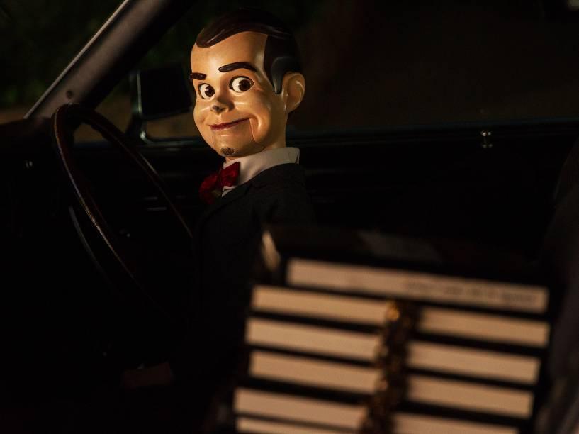 O boneco Slappy no filme Goosebumps: Monstros e Arrepios