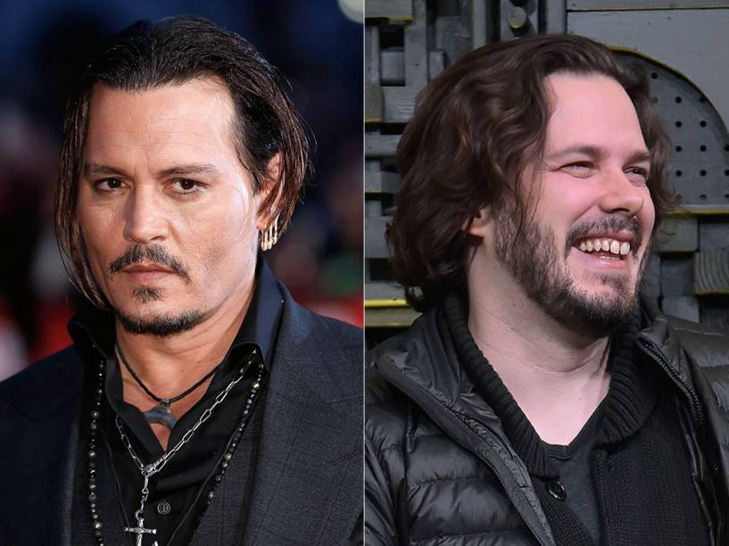 O ator Johnny Depp e o diretor Edgar Wright