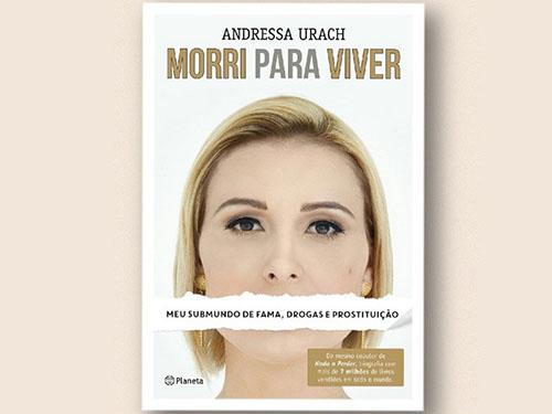 """Capa do livro """"Morri para viver"""", de Andressa Urach"""
