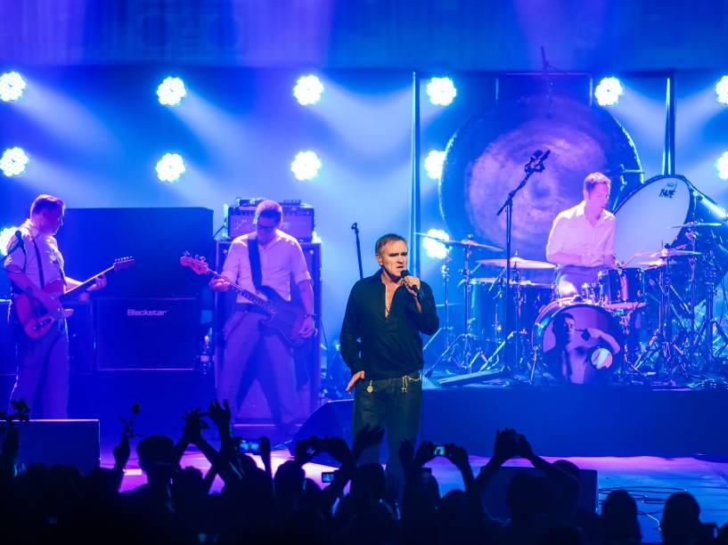 O cantor e compositor britânico Morrissey se apresenta no Teatro Renault, em São Paulo