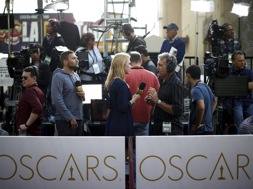 Movimentação momentos antes do início do Oscar 2016 no Teatro Dolby, em Los Angeles