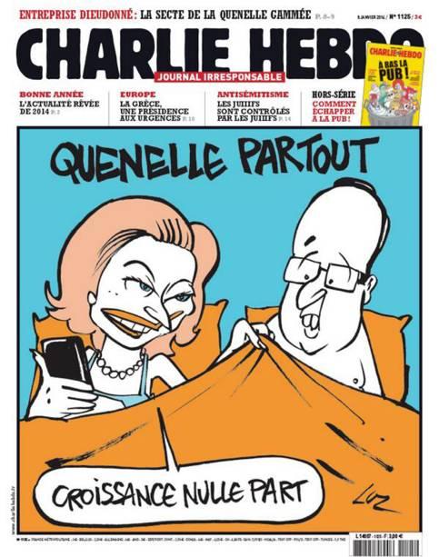 """As charges mais provocativas da revista """"Charlie Hebdo"""""""