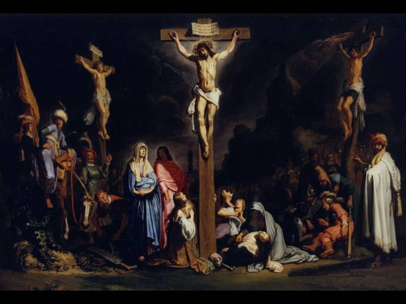 A Crucificação obra do pintor holandês Pieter Lastman - séc XVII