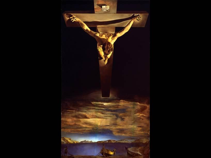 Crucificação, obra do pintor espanhol Salvador Dalí - séc XX