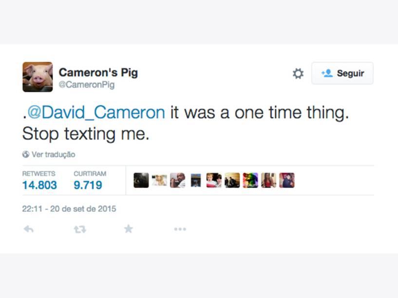 """""""Foi só uma vez, Cameron. Pare de me mandar mensagens"""""""