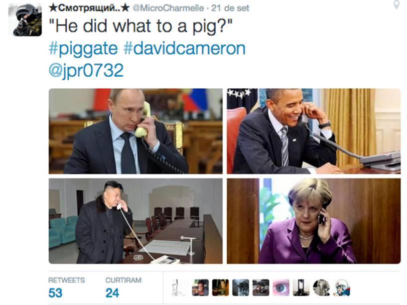 """""""Ele fez o que com o porco?"""""""