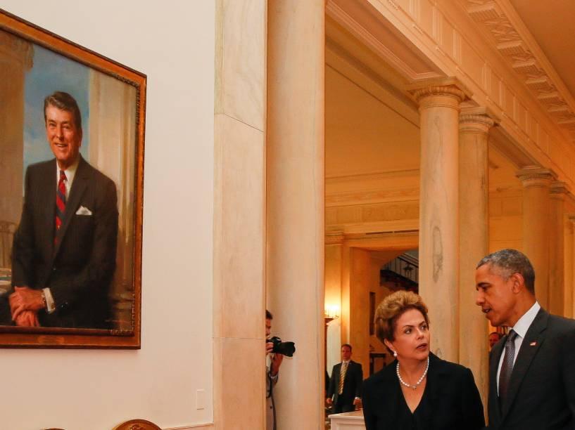 <p>Presidente Dilma Rousseff durante jantar oferecido pelo presidente dos Estados Unidos, Barack Obama na Casa Branca em Washington - 29/06/2015</p>