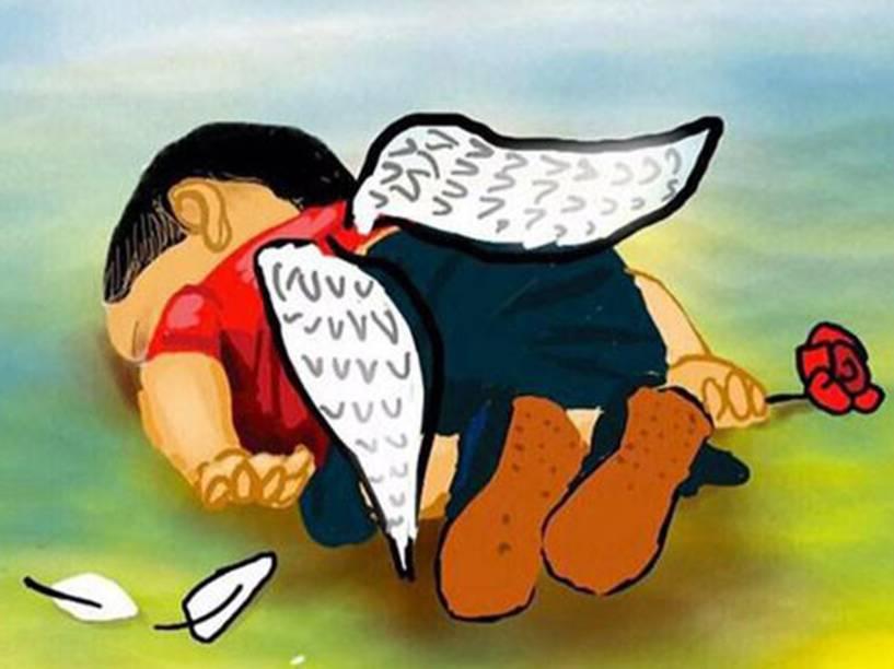 Ilustrações homenageiam o menino refugiado Aylan Kurdi, encontrado morto em praia na Turquia