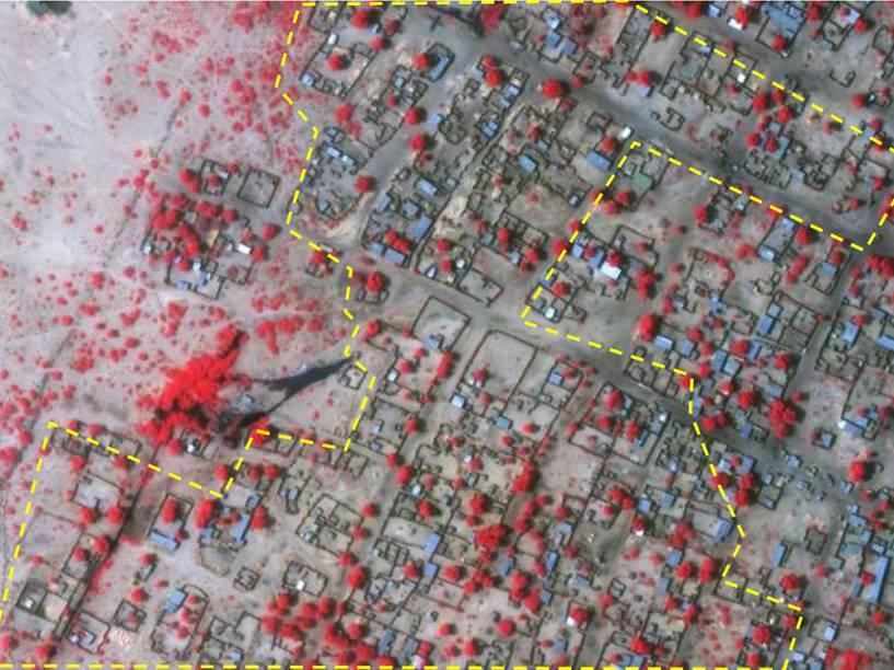 Imagem mostra estruturas da vila de Baga, na Nigéria, no dia 02 de janeiro