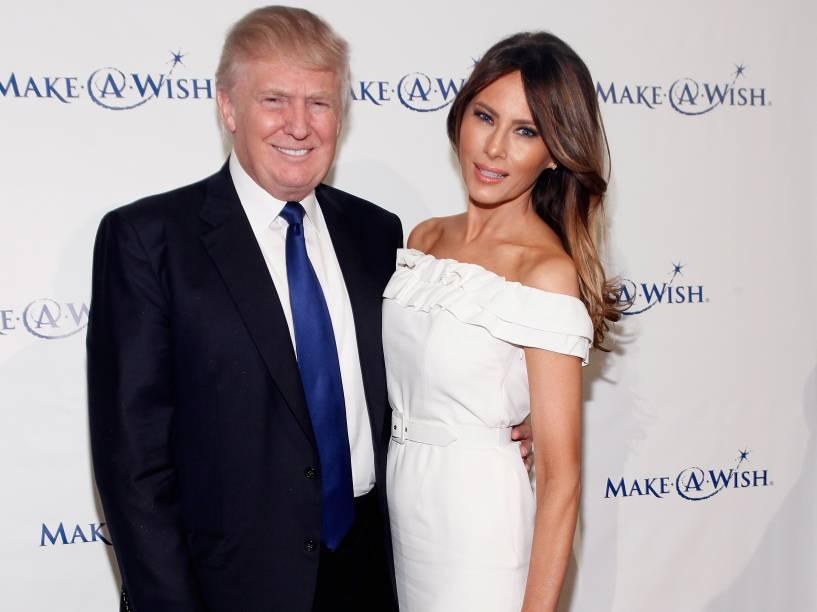 Donald Trump e sua esposa Melania em junho de 2013