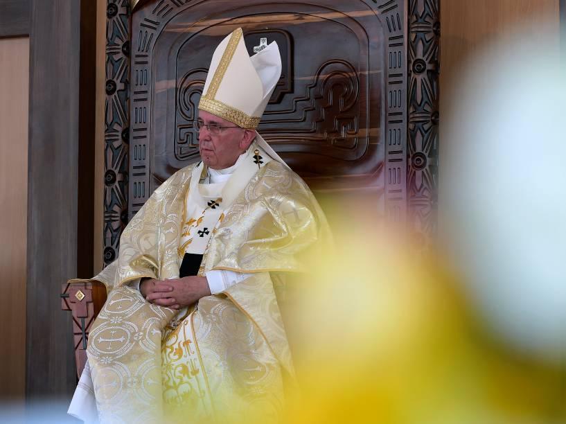 Papa Francisco celebra uma missa a céu aberto na cidade de Guaiaquil, no Equador durante visita pastoral à América Latina - 06/07/2015
