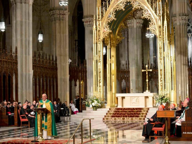 Papa Francisco preside missa na catedral de St. Patrick, em Nova York - 24/09/2015