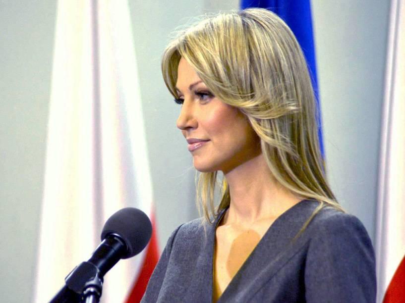 Madaglena Ogorek, candidata à presidência da Polônia pela Aliança Esquerda Democrática (SLD)