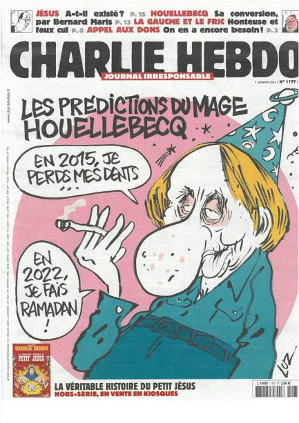 Capa do último número da Charlie Hebdo