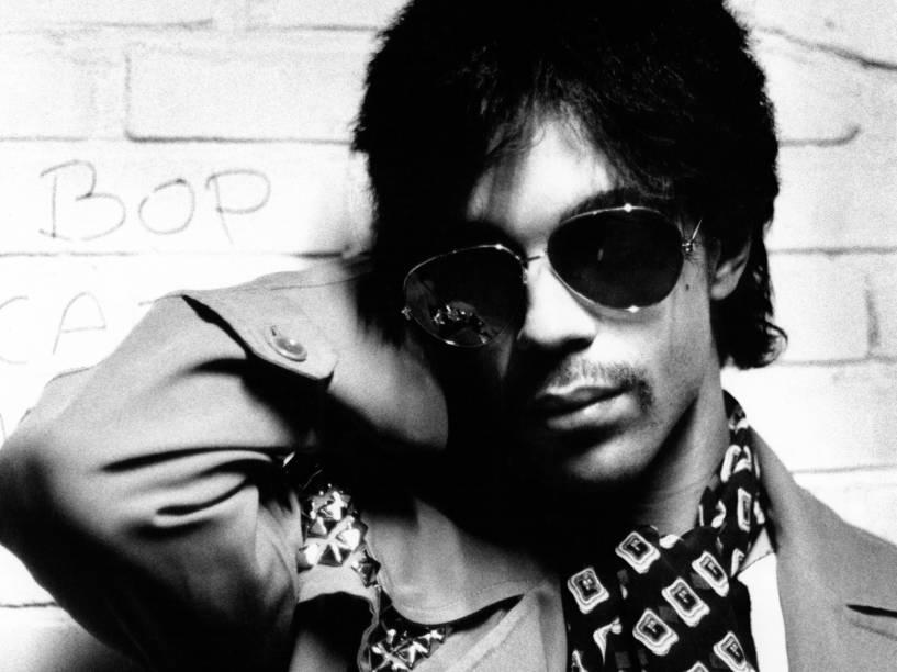 Prince retratado em Amsterdã, na Holanda em 1981
