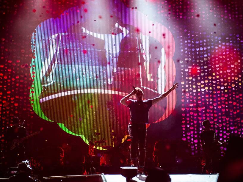 Os britânicos Coldplay se apresentam com a turnê do álbum A Head Full of Dreams no Allianz Parque em São Paulo - 07/04/2016