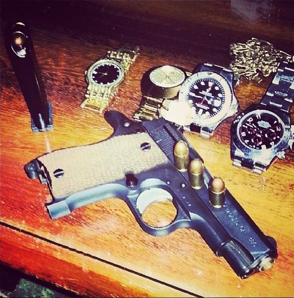 Relógios de luxo de um dos narcos ostentação