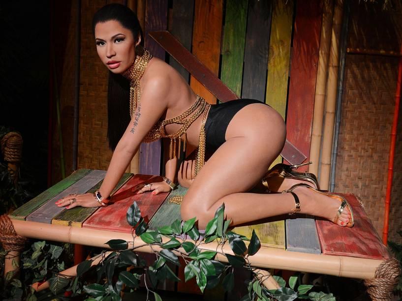Figura de cera de Nicki Minaj em exposição no Madame Tussauds, em Las Vegas