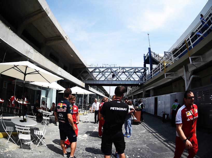 Paddock de Interlagos reformado para receber o GP Brasil de Fórmula 1, em São Paulo