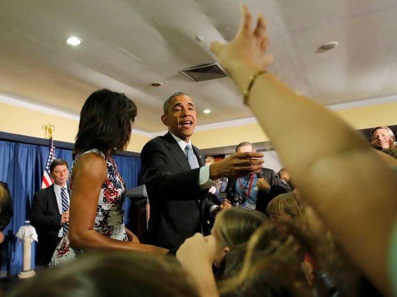 O presidente dos Estados Unidos Barack Obama chegou na tarde deste domingo (20) a Cuba, acompanhado da primeira-dama Michelle Obama e das filhas Malia e Sasha, em uma viagem de três dias a ilha