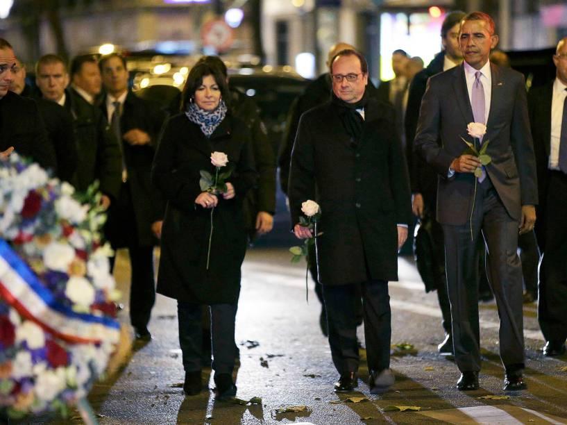 O presidente dos EUA, Barack Obama, prestou uma homenagem às vítimas dos atentados em Paris, depois de ter chegado à capital francesa para participar na Conferência Mundial do Clima, (COP21)