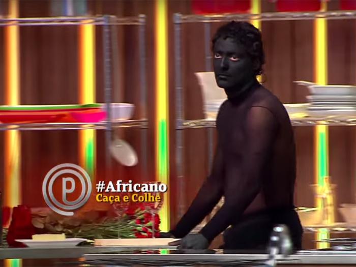Africano (Eduardo Sterblitch): personagem do Pânico caça, colhe e não fala