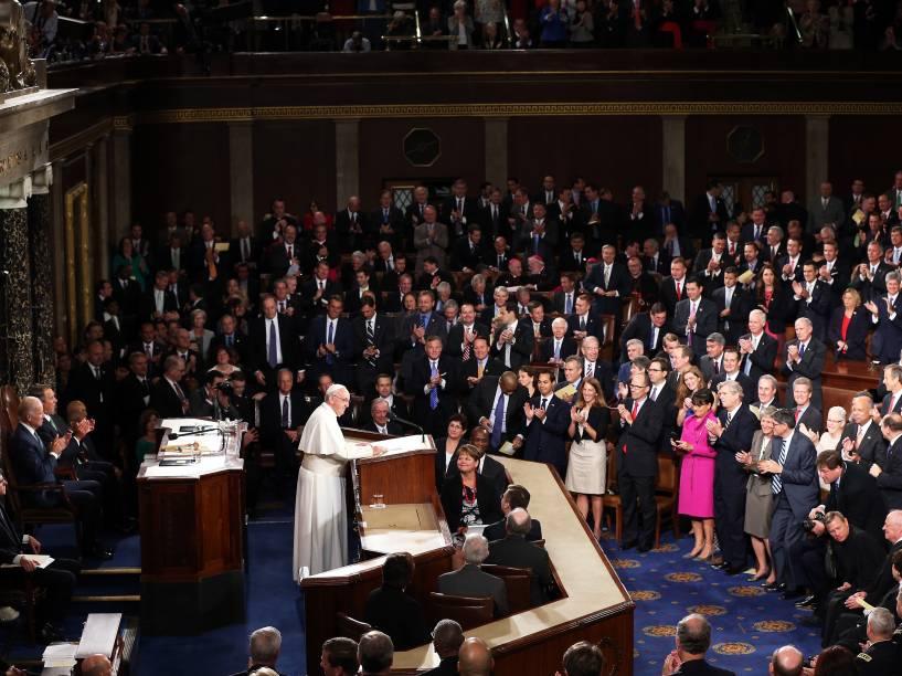 Papa Francisco realiza nesta quinta-feira (24), discurso no Congresso dos Estados Unidos durante sua primeira visita ao país