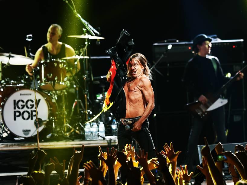 Iggy Pop comanda o primeiro dia do festival Popload em São Paulo, nesta sexta-feira (16)