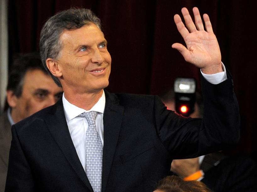 A posse do novo presidente da Argentina Mauricio Macri em Buenos Aires, na manhã desta quinta-feira (10)