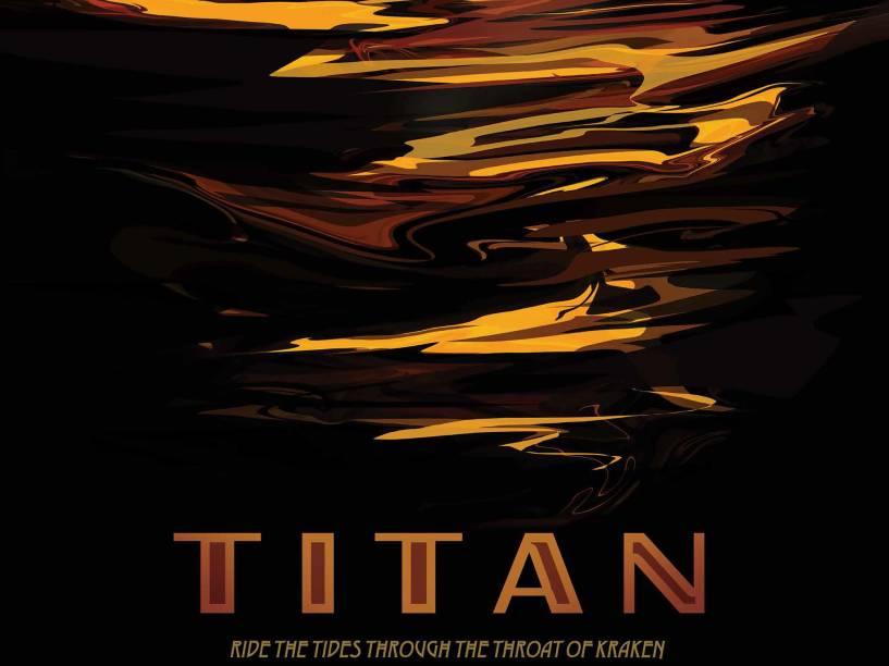 """<p>A missão Cassini também foi responsável por colher informações de Titã, a maior Lua de Saturno. """"Lua Titã: passeie pelas ondas do mar de Kraken"""". </p>"""