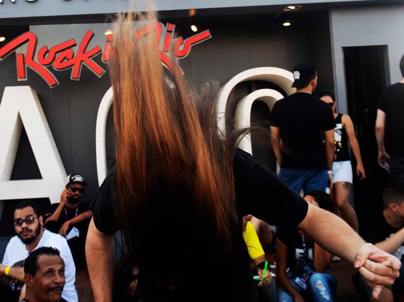 Público na Cidade do Rock, para o quarto dia de shows do Rock in Rio, nesta quinta-feira (24)