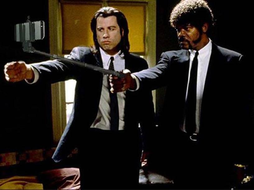 Antes de recitar Ezequiel 25, vamos tirar uma foto -Pulp Fiction