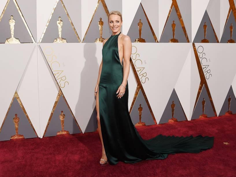Rachel McAdams antes do início do Oscar 2016 no Teatro Dolby, em Los Angeles