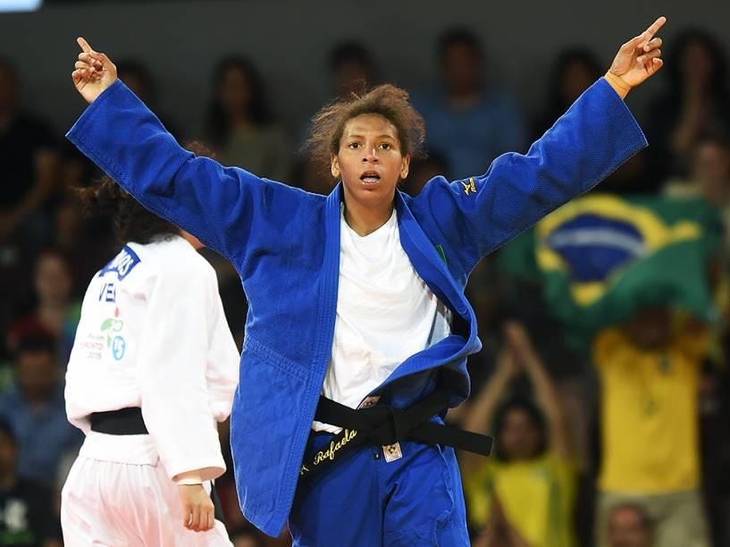 Rafaela Silva fatura medalha de bronze no Pan de Toronto, neste domingo (12)