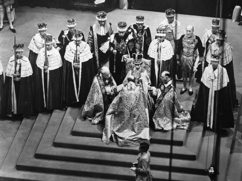 Coroação da rainha Elizabeth II foi em 2 de junho de 1953 na Abadia de Westminster