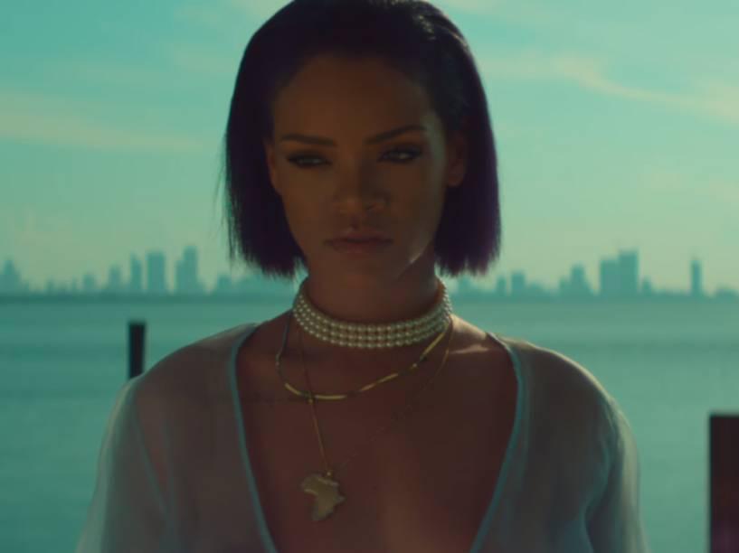 Rihanna no clipe de Needed Me, música do disco Anti