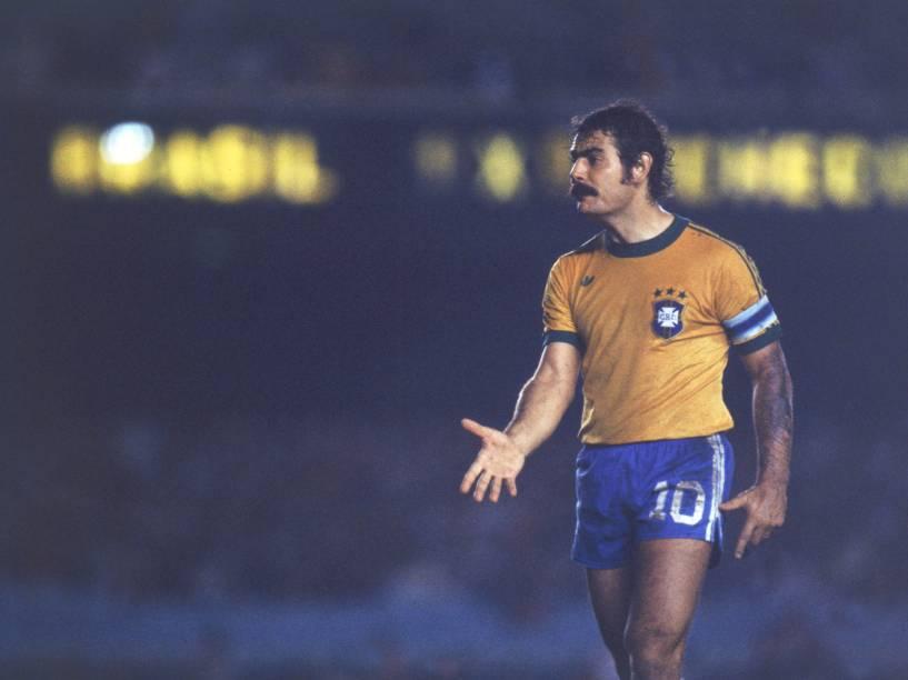 Rivellino, na seleção brasileira, em 1978