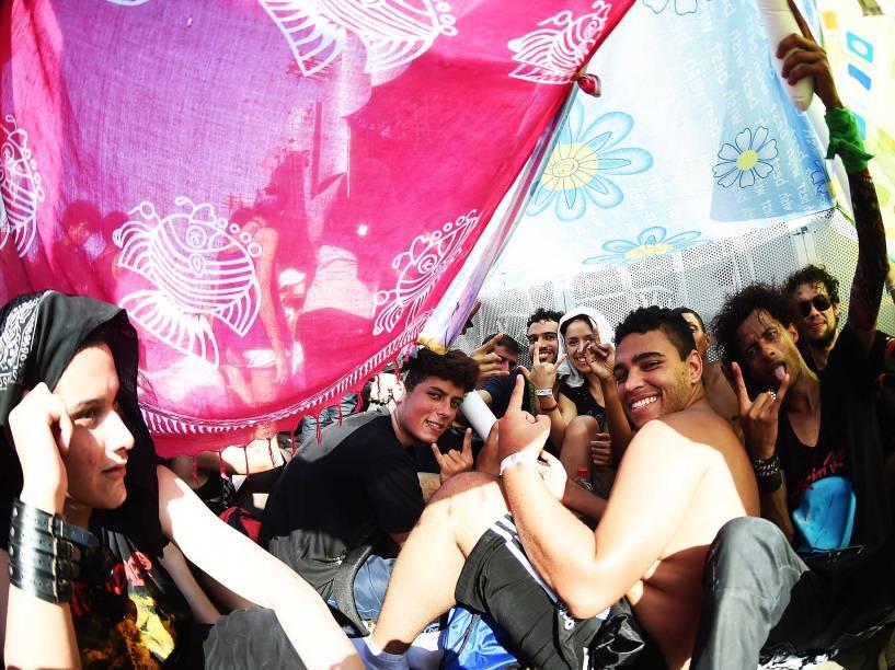 Público na Cidade do Rock para o Segundo dia de shows do Rock in Rio, neste sábado (19)