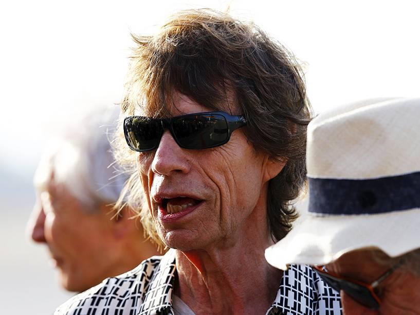 Mick Jagger, vocalista da banda The Rolling Stones, chega à Havana, em Cuba, nesta quinta-feira (24), para apresentação da turnê Olé