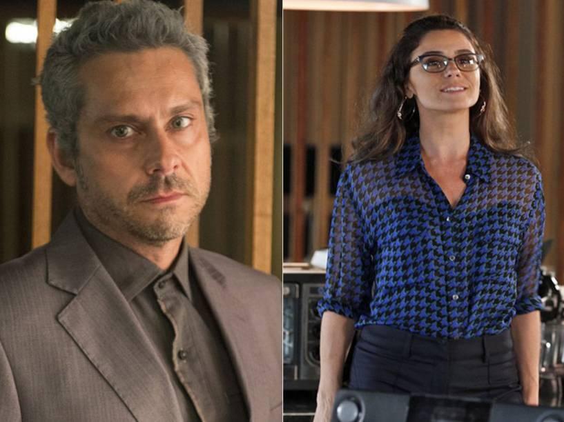 Romero (Alexandre Nero) e Atena (Giovanna Antonelli) mudam de visual em A Regra do Jogo